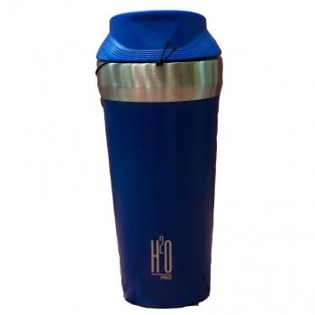 בקבוק טרמי עם הדפסה H2O Anti slip כחול