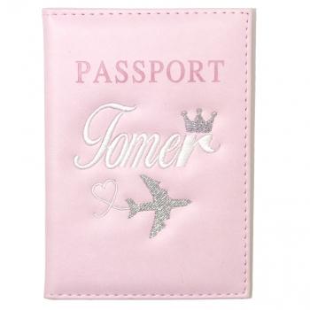 כיסוי דרכון ורוד