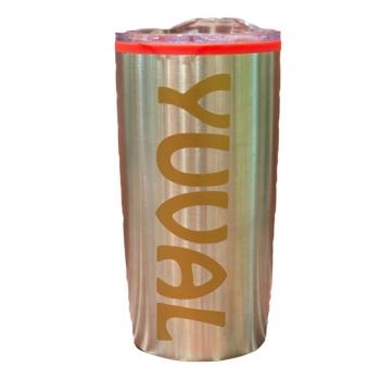 כוס טרמית אפורה  H2o Pro עם הדפסה
