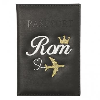 כיסוי דרכון שחור