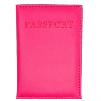כיסוי דרכון ורוד פוקסיה